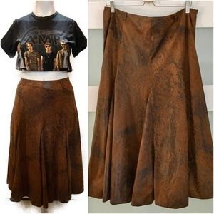 Vintage Faux Suede Skirt